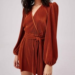 The Fifth Label Copper Belted Long Sleeves Dress